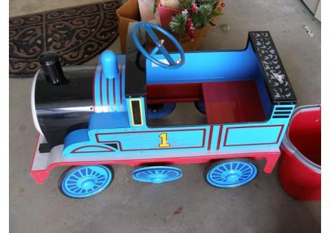 Child's metal Pedal car Thomas the Train